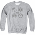 KISS adult crewneck sweatshirt Paint Circles athletic heather