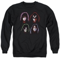 KISS adult crewneck sweatshirt Solo Heads black