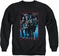 Kiss adult crewneck sweatshirt Spirit of 76 black