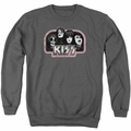 KISS adult crewneck sweatshirt Throwback charcoal