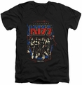 KISS Destroyer mens black v-neck t-shirt
