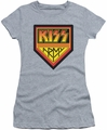 KISS juniors t-shirt sheer Army Logo athletic heather