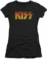 KISS juniors t-shirt sheer Classic black