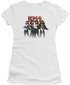 KISS juniors t-shirt sheer Throwback Pose white