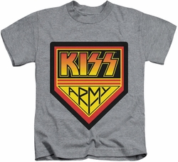 KISS kids t-shirt Army Logo athletic heather