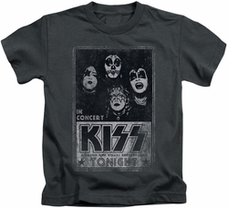 KISS kids t-shirt Live charcoal