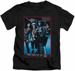 KISS kids t-shirt Spirit of 76 black