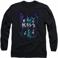 Kiss long-sleeved shirt Colorful Fier black