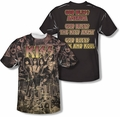 KISS mens full sublimation t-shirt God Bless
