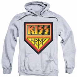 Kiss pull-over hoodie Army Logo adult athletic heather