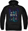 KISS pull-over hoodie Colorful Fier adult black