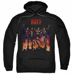 Kiss pull-over hoodie Destroyer Cover adult black