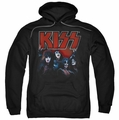Kiss pull-over hoodie Kings adult black