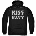 KISS pull-over hoodie Navy Block adult black