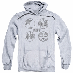 KISS pull-over hoodie Paint Circles adult athletic heather