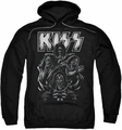 KISS pull-over hoodie Skull adult black