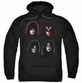 Kiss pull-over hoodie Solo Heads adult black