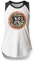 KISS Rock and Roll Over juniors sleeveless raglan white/black womens pre-order