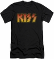 Kiss slim-fit t-shirt Classic mens black