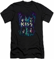 KISS slim-fit t-shirt Colorful Fier mens black