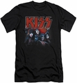 Kiss slim-fit t-shirt Kings mens black