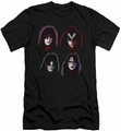 Kiss slim-fit t-shirt Solo Heads mens black