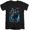 KISS Spirit of 76 mens black v-neck t-shirt