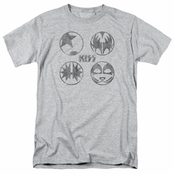 KISS t-shirt Paint Circles mens athletic heather