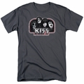 KISS t-shirt Throwback mens charcoal