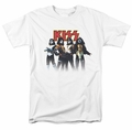 KISS t-shirt Throwback Pose mens white