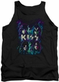 KISS tank top Colorful Fier adult black