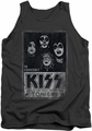 Kiss tank top Live mens charcoal