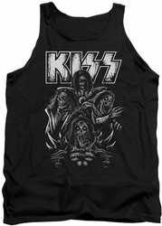 KISS tank top Skull adult black