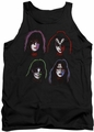 Kiss tank top Solo Heads mens black