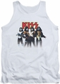 Kiss tank top Throwback Pose mens white