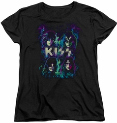 KISS womens t-shirt Colorful Fier black