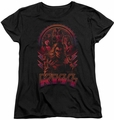 KISS womens t-shirt Comic Style black