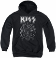 KISS youth teen hoodie Skull black
