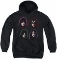 Kiss youth teen hoodie Solo Heads black