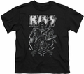 KISS youth teen t-shirt Skull black