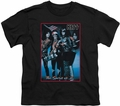 KISS youth teen t-shirt Spirit of 76 black