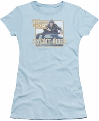Knight Rider juniors t-shirt Back Seat light blue