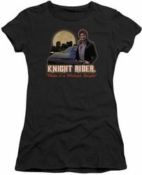 Knight Rider juniors t-shirt Full Moon black