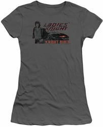 Knight Rider juniors t-shirt Ladies Knight charcoal