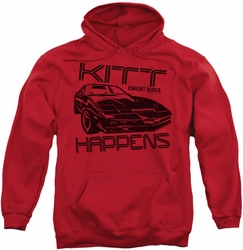 Knight Rider pull-over hoodie Kitt Happens adult red