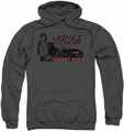 Knight Rider pull-over hoodie Ladies Knight adult charcoal