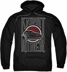 Knight Rider pull-over hoodie Logo adult black