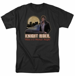 Knight Rider t-shirt Full Moon mens black