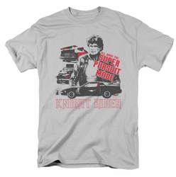 Knight Rider t-shirt Super Pursuit Mode mens silver