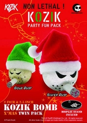 Kozik Merry Mini Bomb Set Gold And Silver Dust